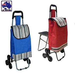 Image Is Loading Shopping Cart Market Trolley Carts Wheels Bag With