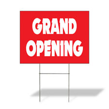 Weatherproof Yard Sign Grand Opening Outdoor Advertising Printing E Lawn Garden
