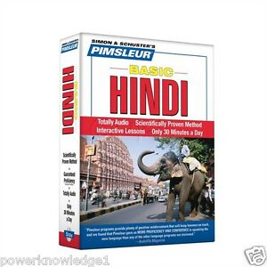Details about NEW 5 CD Pimsleur Learn to Speak Basic Hindi Language