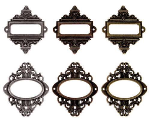 Frame Pendants Connectors Focal Pendants Set Bronze Copper Silver 6pcs *