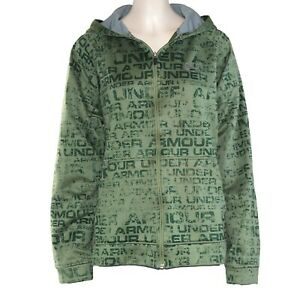 Under-Armour-Women-039-s-Hoodie-Full-Front-Zip-Jacket-Size-Small-Green