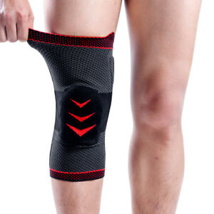 fe589e006f Image is loading Kuangmi-Knee-Compression-Sleeve-Brace-Cramp-Patella-Pad-