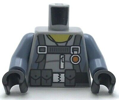 Lego New Light Bluish Gray Minifigure Torso Scuba Suit Utility Belt 3 Pouches