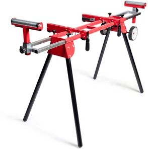 Miter Saw Stand Solid Tires 8 In Portable Lightweight