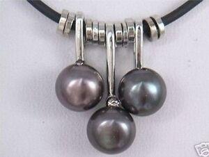 Charme-kultiviert-schwarz-Suesswasserperle-Anhaenger-Halskette