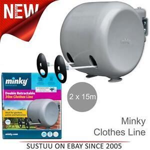 Minky-Retractil-Carrete-Al-Aire-Libre-Ropa-de-doble-linea-de-lavado-30m-2-X-15m-lineas