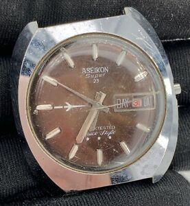 Aseikon-Super-23-Cal-24-00-Main-Manuel-Vintage-36-mm-Pas-Fonctionne-pour-Pieces