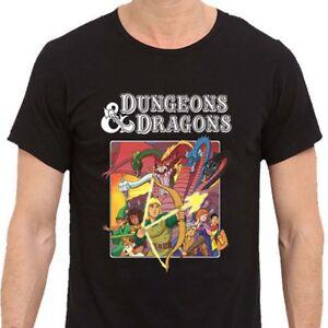 535e0e787 Dungeons & Dragons Old School Cartoon Men's T-SHIRT Black New Best ...