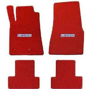 2013 14 Mustang Shelby Gt500 Lloyd Red Floor Mats Carroll