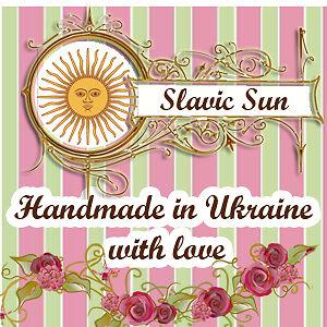 Slavic Sun Lampwork Bead Jewelry