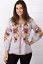 JOHNNY-WAS-Embroidered-ARTEMIS-Floral-PEASANT-BLOUSE-Workshop-Stripe-XS-245 thumbnail 2