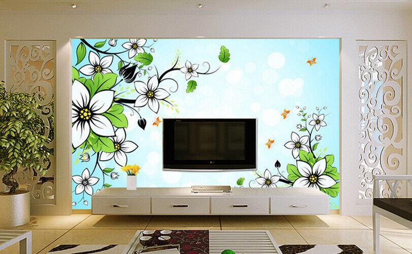 3D Plants Flowers 79 Wall Paper Murals Wall Print Wall Wallpaper Mural AU Lemon