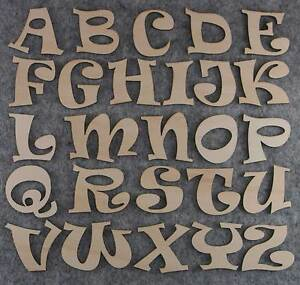 Ravie Font Alphabet Set 3mm or 6mm Plywood Capital Letters A-Z 26 Characters