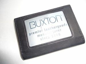 Black Buxton Trifold Leather Credit Card Wall