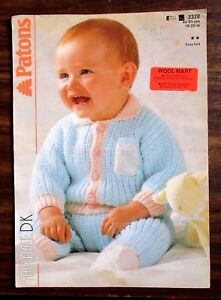 0866ff4e72c3 Patons babies knitting pattern leaflet no. 3326 size 18-20 inches