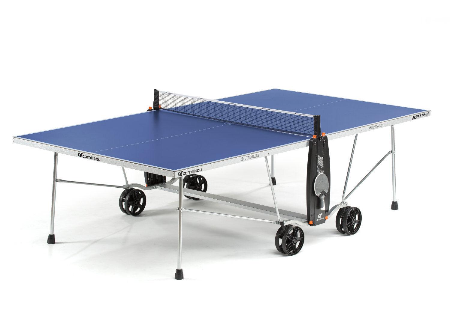 Cornilleau 100 100 100 S Crotver outdoor Tischtennisplatte  Blau mit Netz e5b8e6