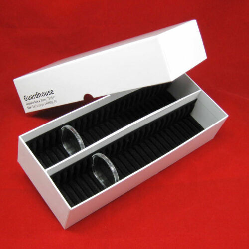 50 Silver Eagle Black Ring AirTite Coin Holders with #16 xlg Capsule Storage Box