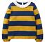 miniatuur 2 - Mini Boden Girls Bee/Ladybird Long Sleeves Top T-shirt Frill 3D Applique Stripe