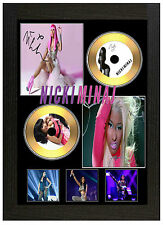 NICKI MINAJ B - A3 SIGNED FRAMED GOLD VINYL COLLECTORS CD DISPLAY PICTURE