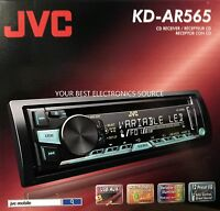 Jvc Kd-ar565 Single Din In-dash Cd/am/fm Car Audio Receiver W/ Front 3.5mm