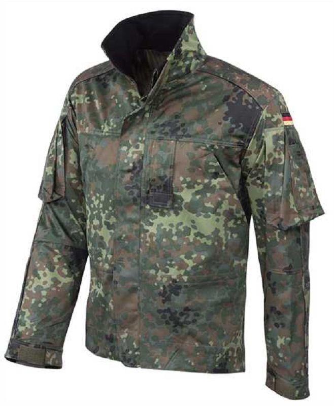LEO KÖHLER BW Bundeswehr German Kampfjacke Einsatz Army Jacke Kurz Flecktarn M