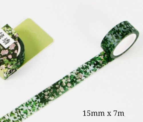 Japan Washi Tape Green Leaves Wall 15mmx7m  MT457