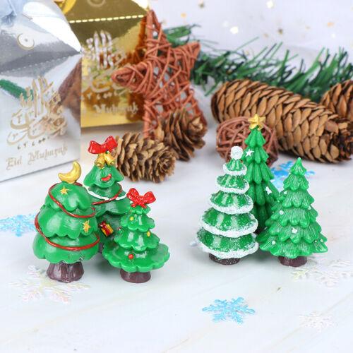 Christmas Trees gift Figurines Fairy Garden Miniatures Resin Craft Landscape xz