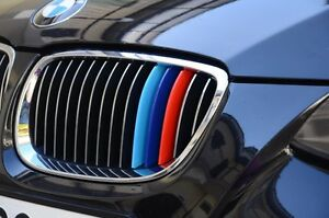 BMW M Colors Kidney Grille Stripes Set Of Stripes Vinyl Decal - Bmw m colored kidney grille stripe decals
