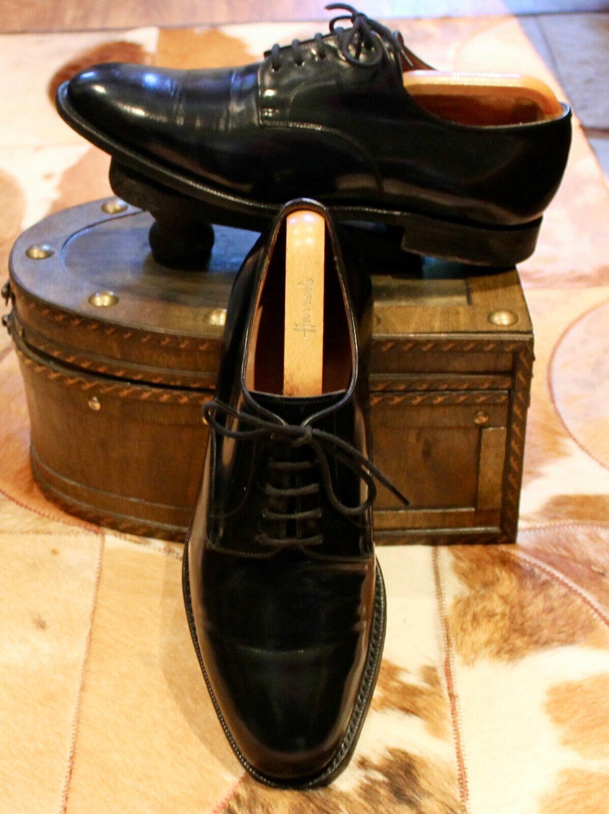 Zapatos de Cuero Church'S 'Clyde' Derby Negro encuadernador-Reino Unido 8G