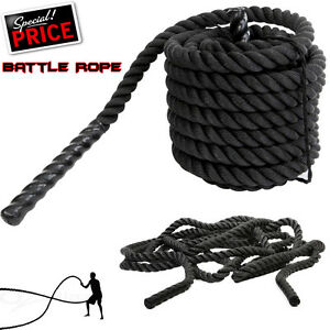 Bataille de Puissance Corde 38//50mm Battling Sport Bootcamp Gym Exercice Fitness Training