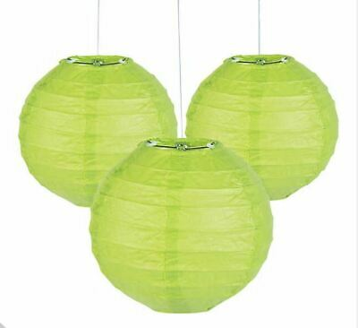 """10pk GREEN 8/"""" Chinese Paper Lantern ST PATRICKS DAY  Party Hanging Decorations"""