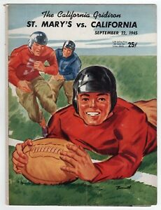 1945 St Mary's California Cal Berkeley College Football Programme Gaëls Ours Ca Emballage Fort