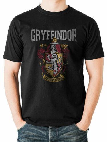 Gryffindor Crest Varsity Official Harry Potter Hogwarts Black Mens T-shirt