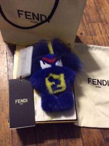 Image is loading Fendi-Fendirumi-Bug-Kun-Bag-Mink-Fox-Charm- d47294878e38f