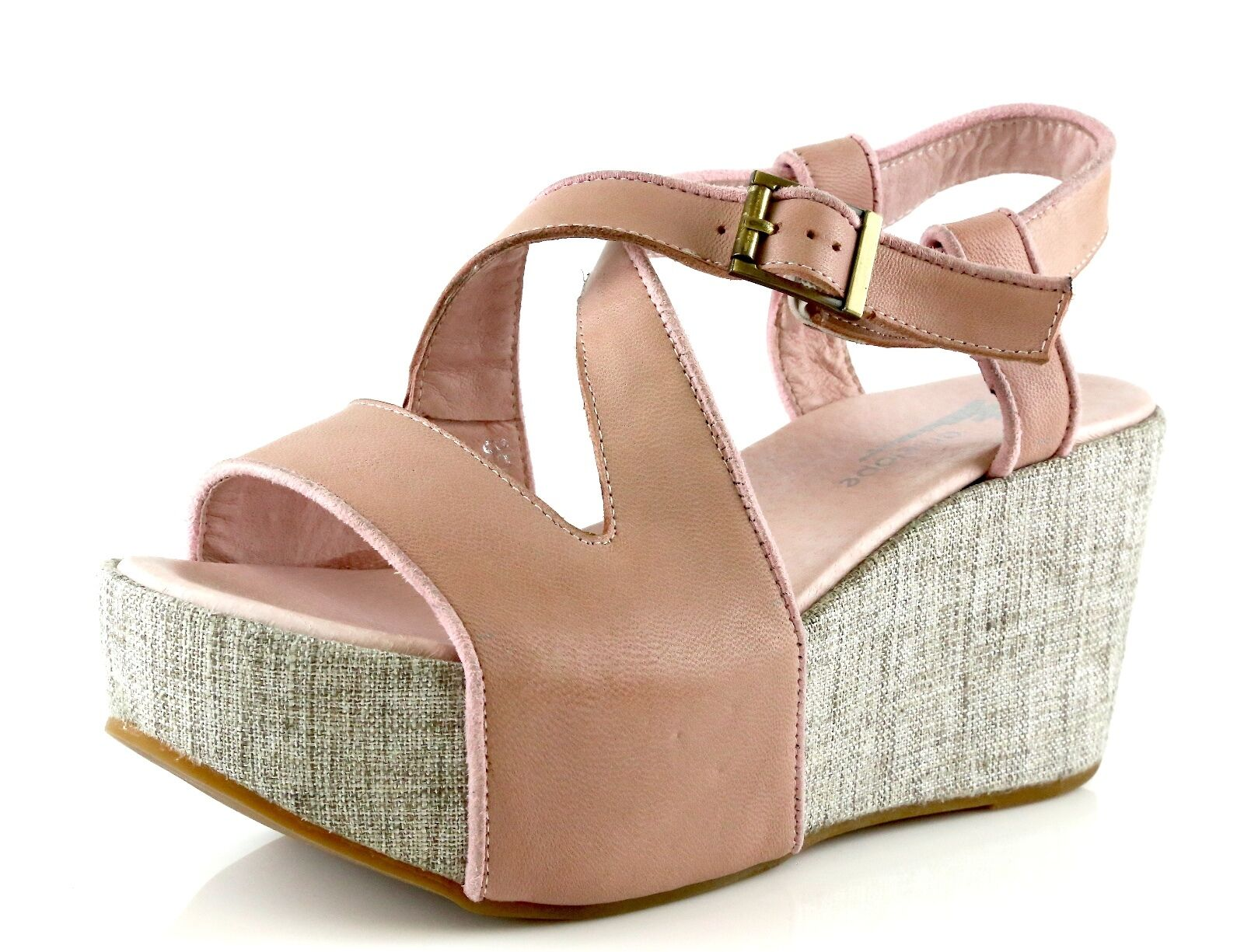 Antelope 858 Rosa Leather Wedge Sandals Sandals Sandals 7050 Größe 39 EU NEW f789df