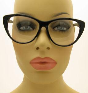 Black Large Frame Glasses : Vintage Style Large Clear Black Frame Cat Eye Glasses ...