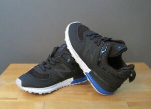 newest ad6d4 ee925 Details about New Balance Black / Blue / White 574 Sport (KFA574QI)  Sneakers US 8 M NWB