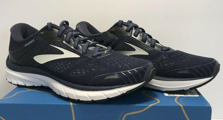 Brooks Adrenaline GTS 18 para hombre Azul Marino gris Zapatos tenis de correr 110271 1D