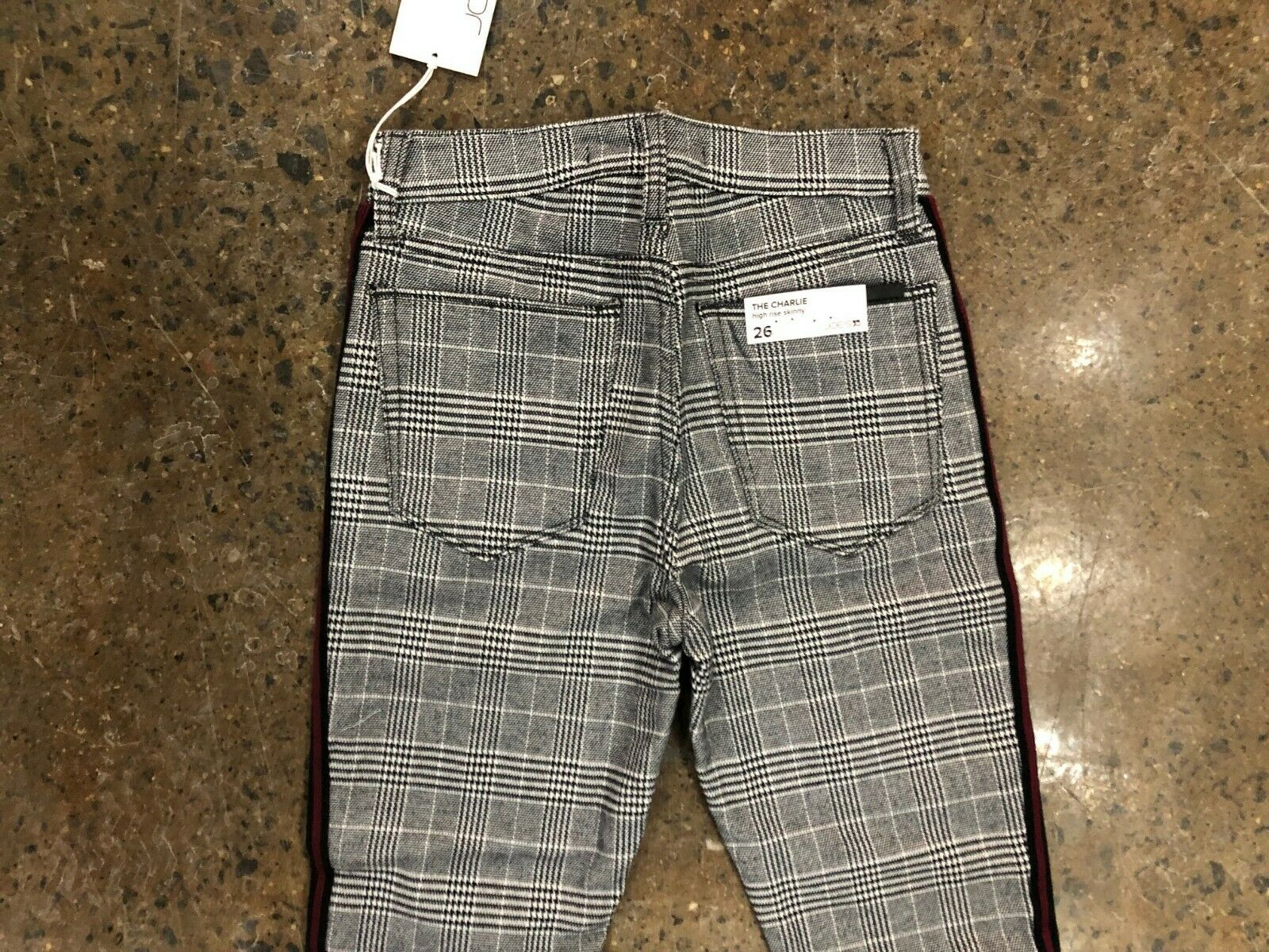 NWT Women's JOE'S JEANS CHARLIE SKINNY ANKLE GLEN PLAID SIZE 26 299  HIGH RISE
