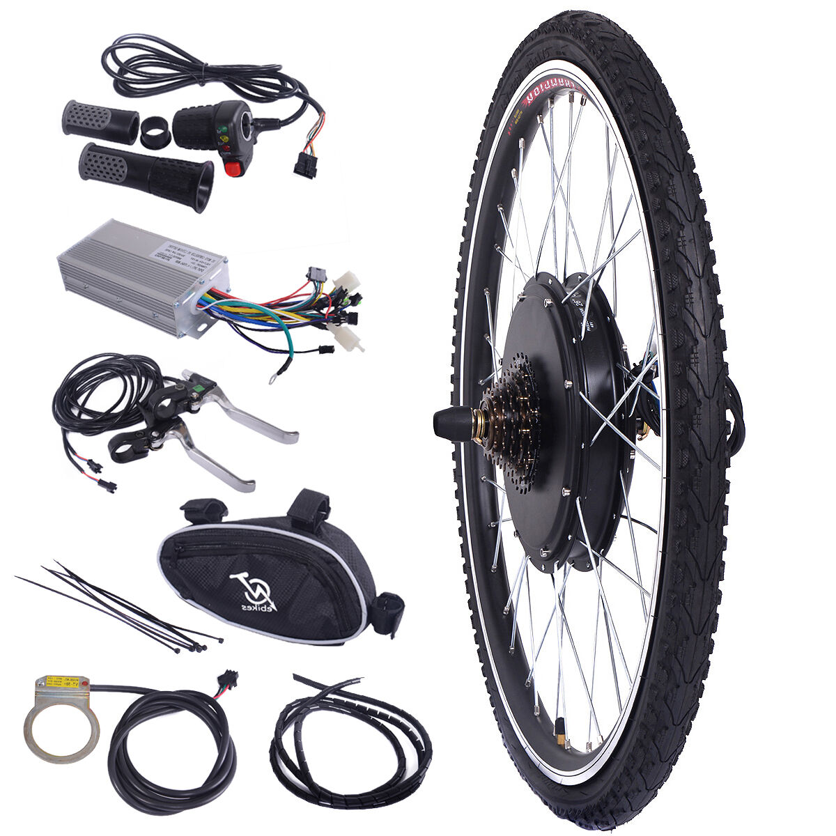 26'' 48V 1000W Electric Bicycle E-Bike Conversion Cycling Motor  Hub Rear Wheel  luxury brand