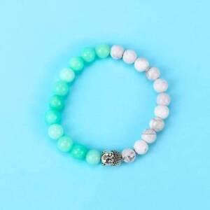 Natural-Gemstone-Beads-Buddha-Head-Beaded-Men-Women-Handmade-Bracelet