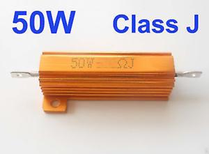 5Pcs 25W Watt Power Metal Shell Wirewound Resistor 1K Ω ~ 50K Ω ohm Class J ±5/%