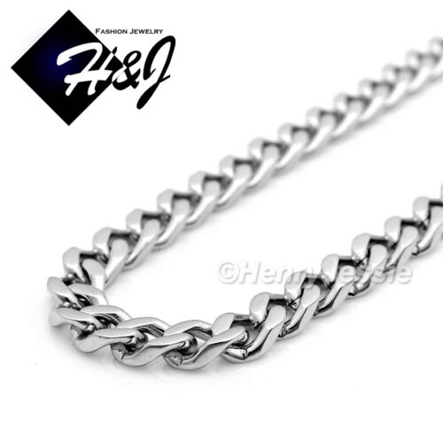 """24/""""MEN Stainless Steel 4.5mm Silver Cuban Curb Link Necklace Buddha Pendant*P96"""
