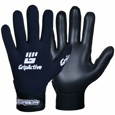 GAA Football BLACK and GOLD Grip Active Grapnel Gaelic Gloves with Premium Qaulity Latex