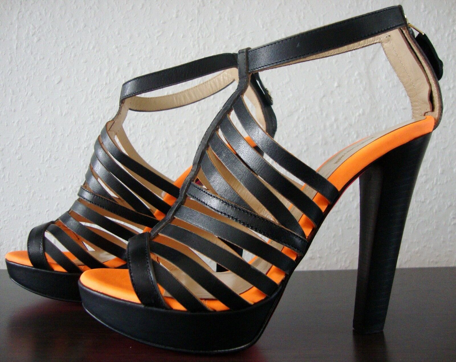 JUST CAVALLI Schuhe Damen Leather Sandals Leder Sandaletten Sandalen Gr.37 NEU