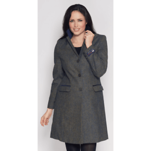 Kesta Moons Herringbone Wool Tweed Coat