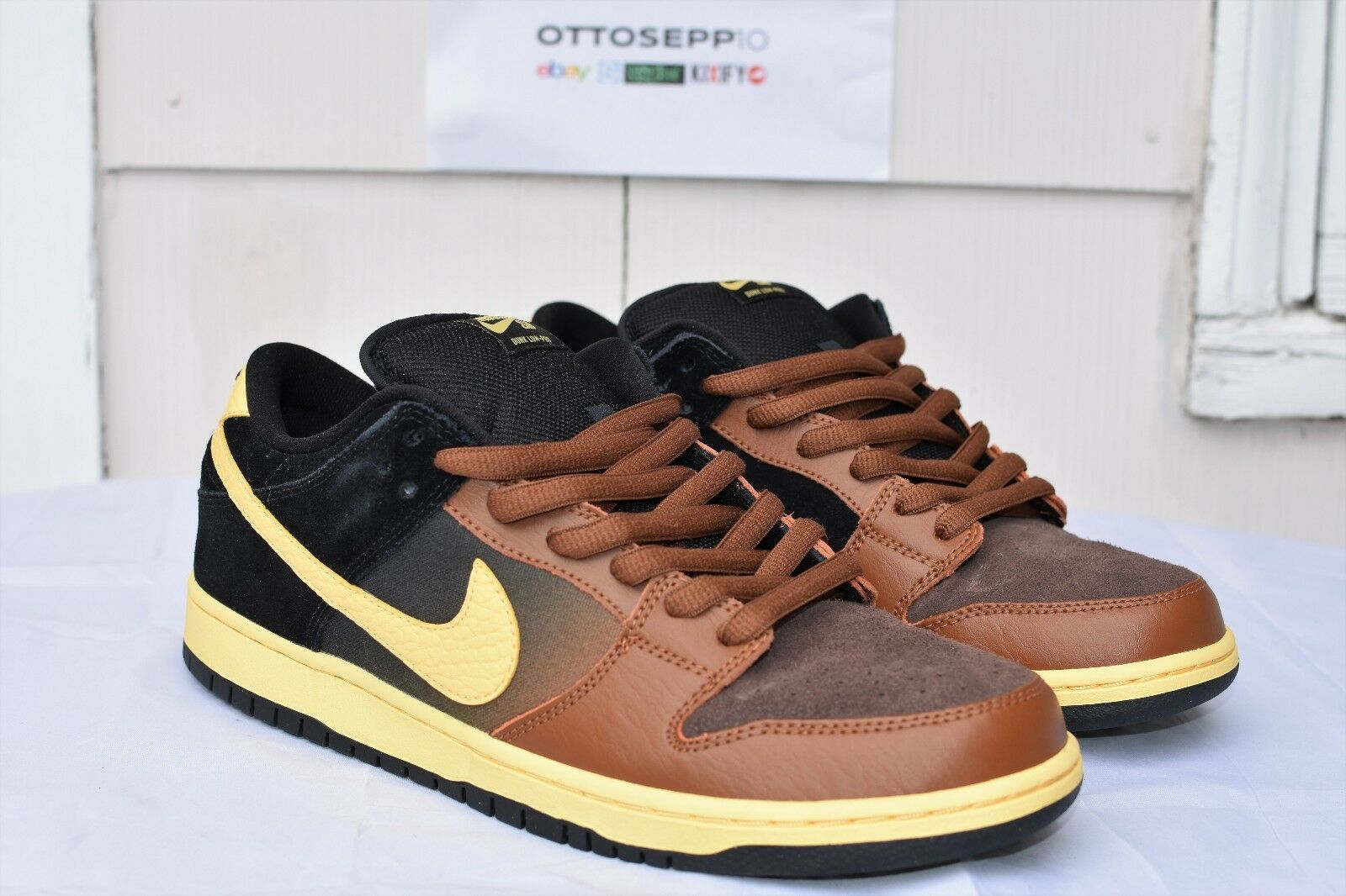 11 NIKE SB DUNK Black Tan Guiness beer pecan chamois vtg qs low ck high mid pro Special limited time
