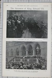 1901-PRINT-ACCESSION-OF-KING-EDWARD-VII-TOWN-CLERK-PROCLAMATION-WINCHESTER