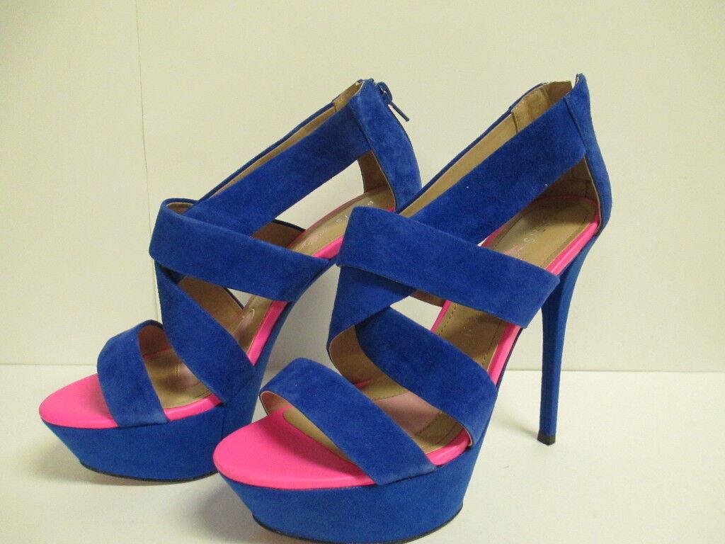 punti vendita Paris Hilton Dacia Strappy Heels Heels Heels 8 M  blu Suede  New with Box  stanno facendo attività di sconto