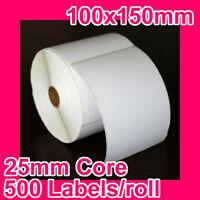 8 Rolls Of 100x150mm Thermal Direct Label For Zebra/tsc/sato/data Max/intermec